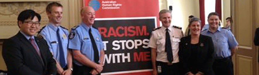 Racism. It Stops with Me' campaign pledge event