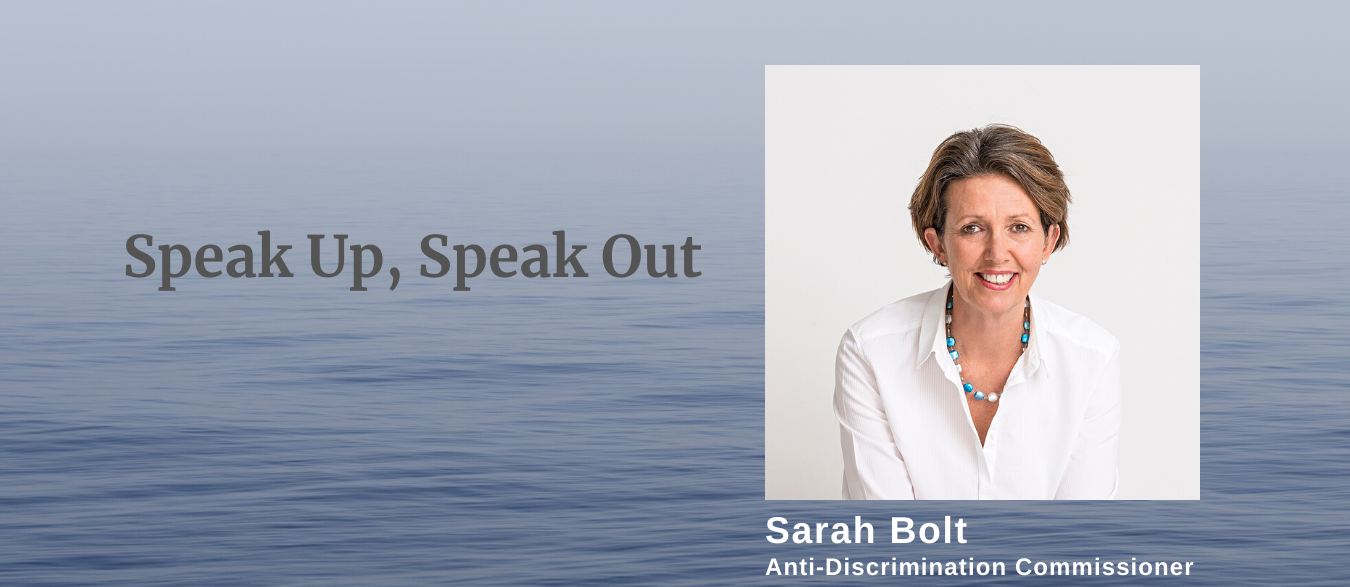 Sarah Bolt Speak up banner