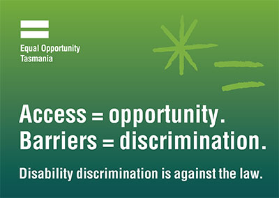 Access = opportunity Barriers = discrimination